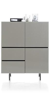 Lurano, Highboard 3-portes + 2-tiroirs - 115 Cm