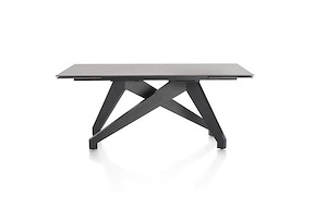 Enzo, Table A Rallonge (+ 2 X 40) X 100 Cm - Lava Anthracite