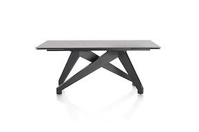 Enzo, Table A Rallonge (+ 2 X 40) X 100 Cm - Lava Anthracite