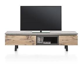 Myland, Meuble Tv 1-tiroir + 1-porte Rabattante + 1-niche - 180 Cm