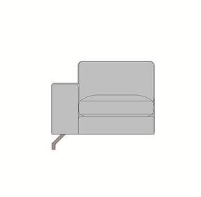 Rubi, Petit Element - 80 Cm - Accoudoir Gauche