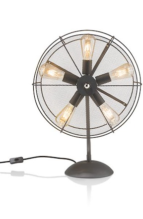 Fan, Lampe De Table 5-ampoules