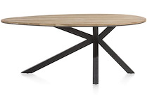 Colombo, Table 200 X 120 Cm - Chene Massif + Mdf