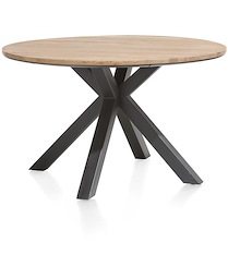 Colombo, Table Rond 130 Cm - Chene Massif + Mdf