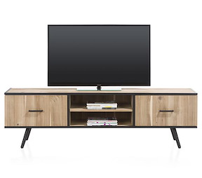 Kinna, Meuble Tv 1-porte + 1-tiroir + 2-niches - 190 Cm