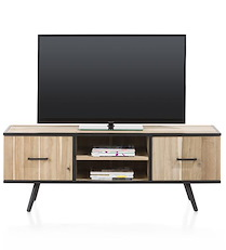 Kinna, Meuble Tv 1-porte + 1-tiroir + 2-niches - 150 Cm