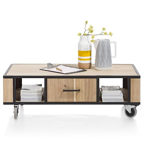 Kinna, Table Basse 110 X 60 Cm + 1-tiroir T&t + 2-niches