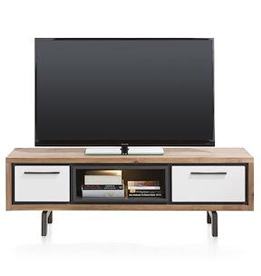 Otta, Meuble Tv 1-tiroir + 1-porte Rabattante + 1-niche - 140 Cm ( +led)