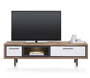 Otta, Meuble Tv 1-tiroir + 1-porte Rabattante + 1-niche - 170 Cm ( +led)