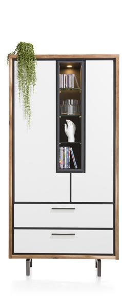 Otta, Armoire 2-portes + 2-tiroirs + 4-niches - 95 Cm (+ Led)