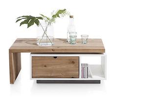 Otta, Table Basse 120 X 60 Cm + 1-tiroir T&t + 1-niche + Plateau Pivotante