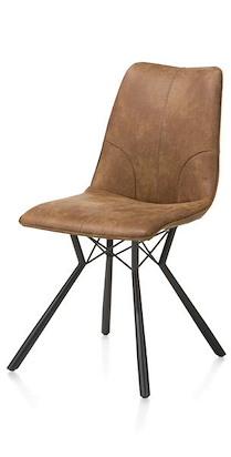 Noah, Chaise - Pied Noir + Cuir Corsica