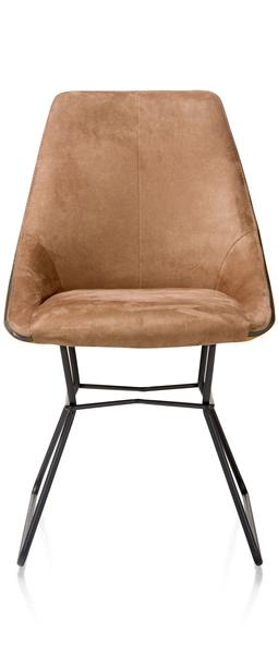 Aiden, Dining Chair - Powdercoated Black - Combination Calabria/tatra