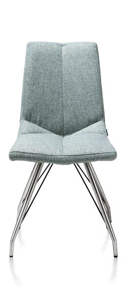 Artella, Dining Chair Stainless Steel Design Leg + Lady Grey Or Mint