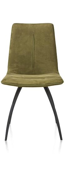 Milo, Chaise 4-pieds Courbes - Noir - Avec Piqure