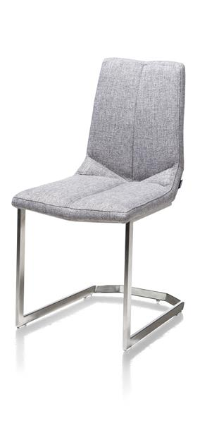 Artella, Chaise Pied Inox Traineau Carre - Lady Gris Ou Mint
