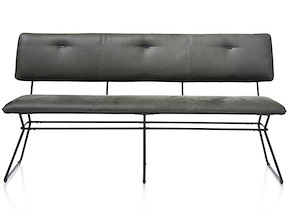Otis, Banquette 160 Cm. - Frame Noir - Kibo Avec Passepoil Tatra Antracite
