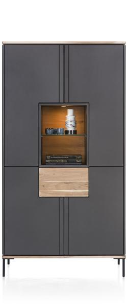 Lanai, Armoire 4-portes + 1-tiroir + 2-niches - 100 Cm (+ Led)