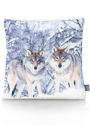 Coussin Winter Wolf - 45 X 45 Cm