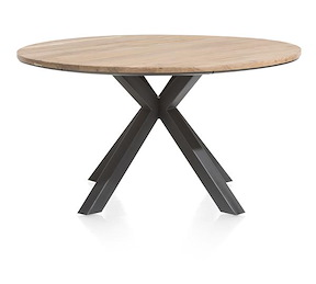 Colombo, Table Rond 150 Cm Chene Massif + Mdf
