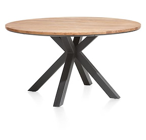 Colombo, Table Rond 150 Cm Chene Kikar + Mdf
