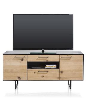Barcini, Lowboard 2-doors + 2-drawers + 1-niche - 140 Cm (+ Led)