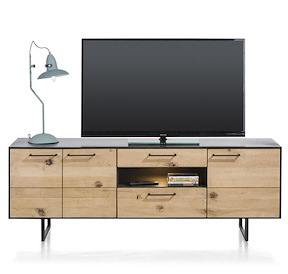 Barcini, Lowboard 3-doors + 2-drawers + 1-niche - 170 Cm (+ Led)