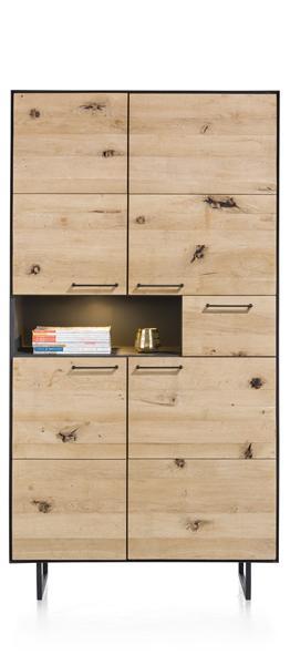 Barcini, Cabinet 4-doors + 1-drawer + 1-niche - 100 Cm (+ Led)