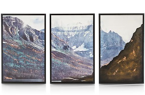 Peinture Set De 3 - Mountain View - 78 X 150 Cm