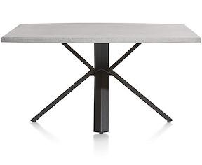 Maddox, Table 150 X 130 Cm - Beton - Pied Forme Etoile