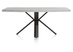 Maddox, Table 190 X 100 Cm - Beton - Pied Forme Etoile