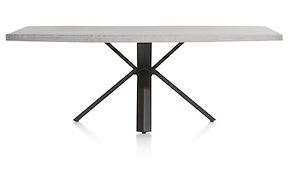Maddox, Table 220 X 100 Cm - Beton - Pied Forme Etoile
