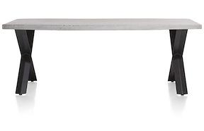 Maddox, Table 220 X 100 Cm - Beton - Pied Forme X