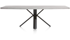 Maddox, Table 250 X 100 Cm - Beton - Pied Forme Etoile