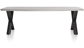 Maddox, Table 250 X 100 Cm - Beton - Pied Forme X