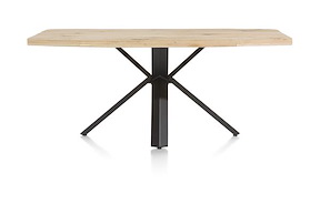 Maddox, Table 190 X 100 Cm - Bois - Pied Forme Etoile