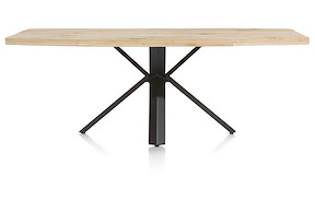 Maddox, Table 220 X 100 Cm - Bois - Pied Forme Etoile