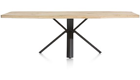 Maddox, Table 250 X 100 Cm - Bois - Pied Forme Etoile
