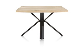 Maddox, Table 150 X 130 Cm - Bois - Pied Forme Etoile