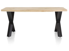 Maddox, Table 190 X 100 Cm - Bois - Pied Forme X