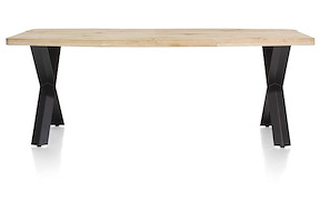 Maddox, Table 220 X 100 Cm - Bois - Pied Forme X