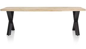 Maddox, Table 250 X 100 Cm - Bois - Pied Forme X