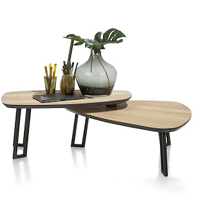 Darwin, Table Basse 100 X 80 Cm + 2 Parties Pivotante