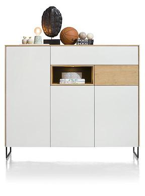 Darwin, Dressette 3-portes + 2-tiroirs + 1-niche - 160 Cm (+ Led)
