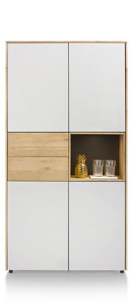Darwin, Armoire 4-portes + 2-tiroirs + 1-niche - 100 Cm (+ Led)