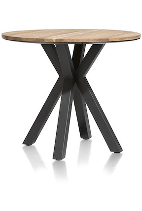 Colombo, Table De Bar Rond 110 Cm - Kikar Massif + Mdf
