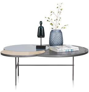 Glasgow, Table Basse 3-plateaux - 110 X 85 Cm