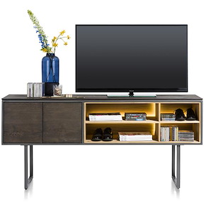 Moniz, Meuble De Tv Haute 2-portes + 4-niches - 180 Cm