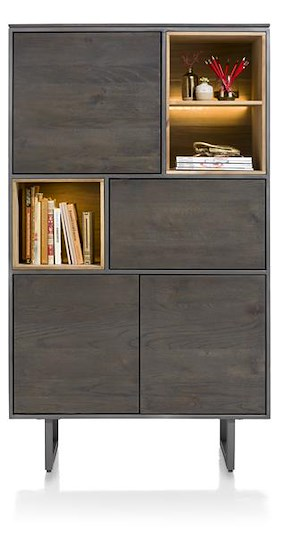 Moniz, Armoire 4-portes + 3-niches - 100 Cm (+ Led)