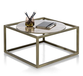 Mondelo, Table D'appoint 60 X 60 Cm - Ceramique